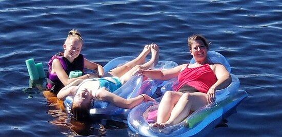 Babbitt, MN: Floating in the Lake!