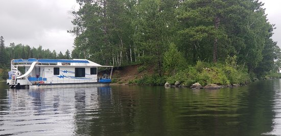 Babbitt, MN: Boat at the Campsite