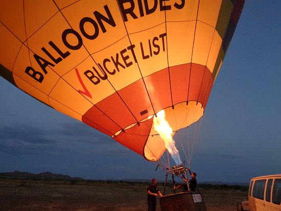 Phoenix Hot Air Balloon Ride at Sunrise: Getting it ready for flight.