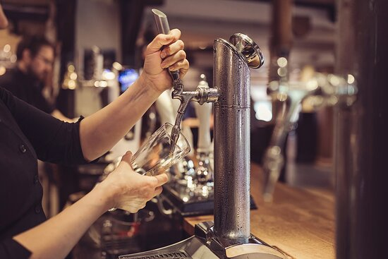 Wide selection of ales and wine