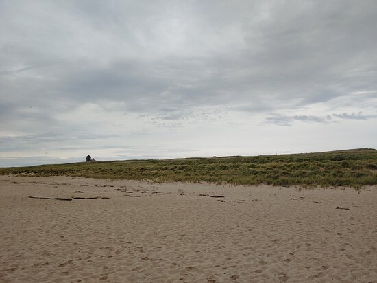Beach was nearly deserted in early October