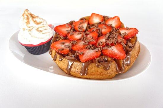 Strawberry Choc Waffle