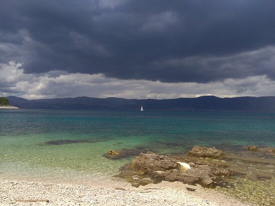 Ciovo Island, Hrvatska: Here comes the rain again ...  #stormyclouds #sailing #Croatia