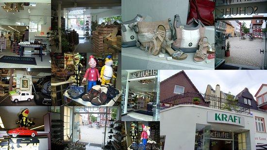 Collage. Schuh-Fachgeschäft, in Idstein...