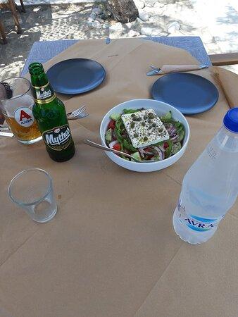 Greek salad (feta, cucumber, tomato, capers, onion, pepper, oregano, olive oil))  ~~~ Rest...Relax...Taste ~~~