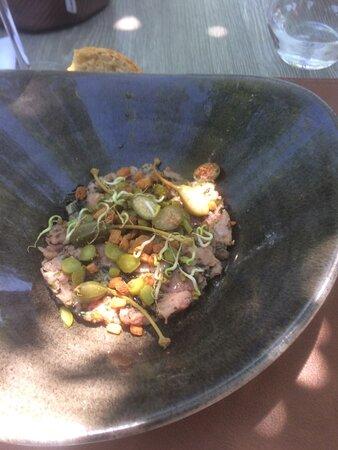 Tartare de veau aux algues