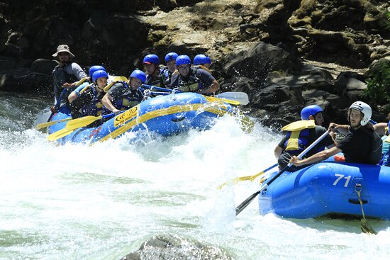 Approaching one of the rapids