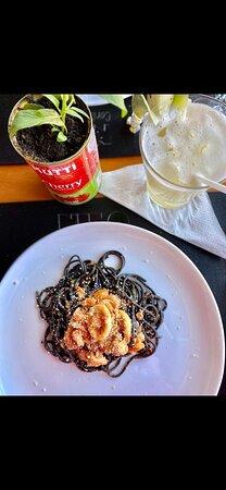Espaguete Nero ao frutos do mar!!!! Maravilhoso!!!