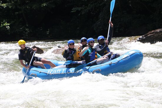 Middle Ocoee Trips: Raft one, with Colton (Nicknamed Bob) family of 4