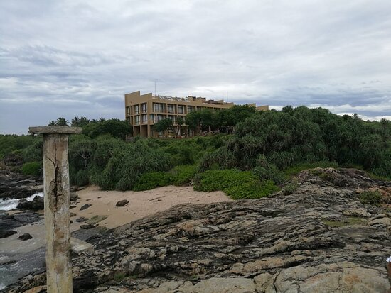 Hotel view from beach