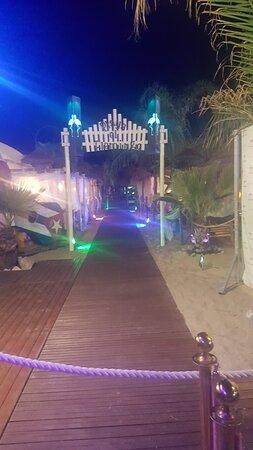 L'ingresso di sera