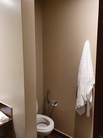 Cramped bathroom area