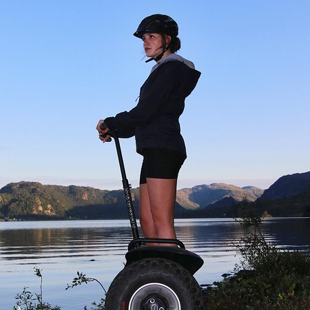 Our segway tours take you right to the edge of the lake.