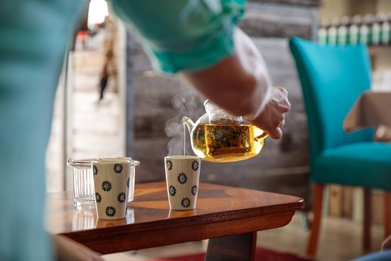 Welcome to Be.  Enjoy a cup of herbal tea and relax on arrival