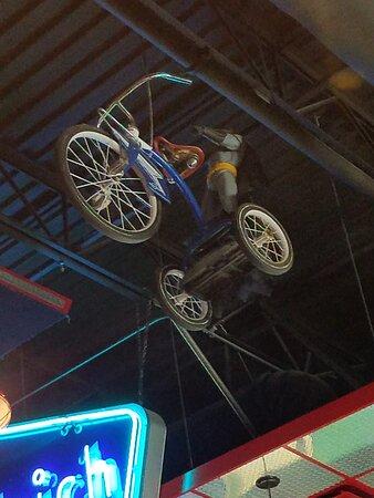 Fun interior as Batman flies on his Trike