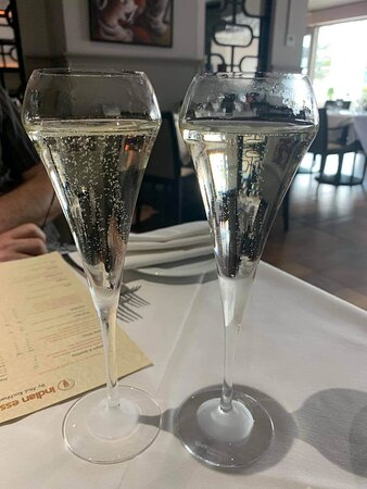 Prosecco in chilled flutes