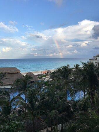 View on our balcony- pretty rainbow