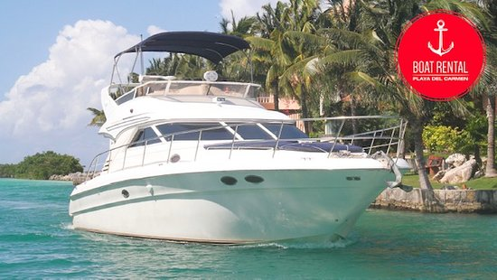 Rent a yacht 42ft in Playa Del Carmen! go fishing and snorkeling! www.boatrentalplayadelcarmen.com