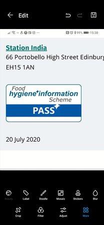 Food n hyegine ratings