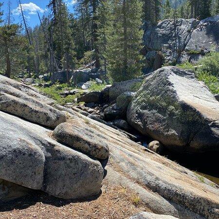 Granite rock trail