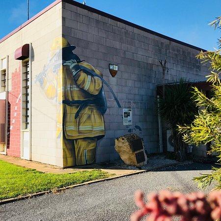 Georgia Goodie Fireman Mural
