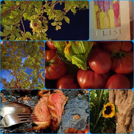 Bistecca alla fiorentina ¦ Tomaten als Tischdekoration (tolle Idee) ¦ Baum im Garten ¦ Elisi zum Espresso