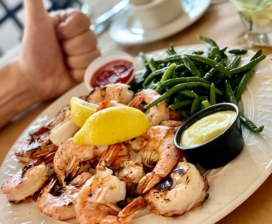 Shrimp is our specialty but we have a full menu of options plus a brick pizza oven.