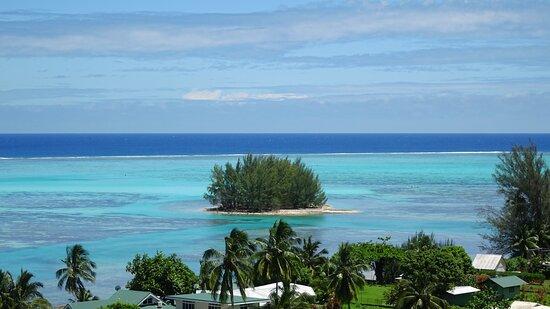 Hauru, פולינזיה הצרפתית: Aussicht vom - vue de la piscine - view from  Tapu Pool; Hauru