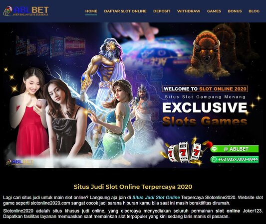 Https Slotonline2020 Com Adalah Situs Judi Slot Online Yang Menyediakan Sekian Banyak Macam Game Judi Terlengkap Dengan Deposit Hanya 50ribu Berpeluang Mendapat Jackpot Puluhan Juta Fasilitas Yang Diserahkan Juga Paling Fantastik Di Samping Menyajikan