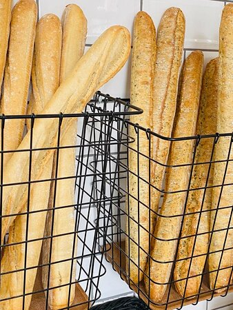 Our homemade baguettes, multigrain or white