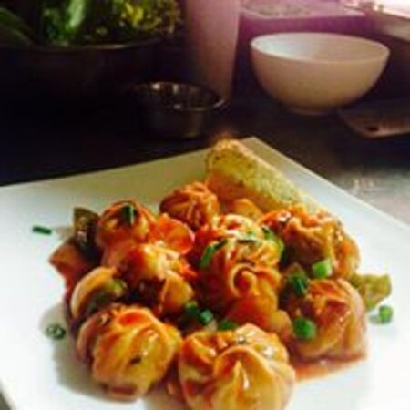 momo typical nepali food its a simple dumpling and chinese has been claiming that it was origitanted from china.