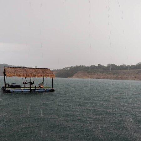 Showering lake