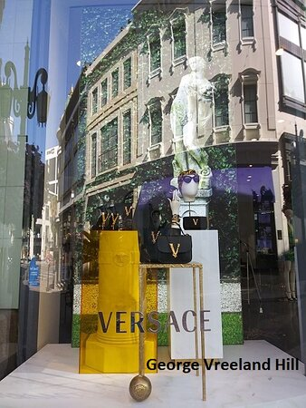 Versace on Two Rodeo Drive in Beverly Hills.  Photo by, George Vreeland Hill