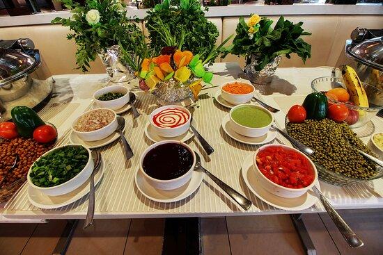 Buffet setup restaurant