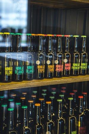 Belle gamme de 14 bières artisanales et locales : (brassées à Tarare à 50 min du restaurant)