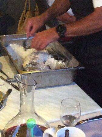 poisson en croûte de sel