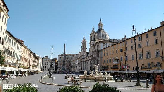 Una delle belle piazze romane