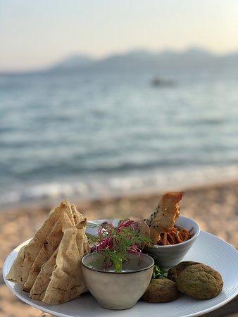 Carte du soir : Mezze Le Bénitier plage-restaurant à Cannes