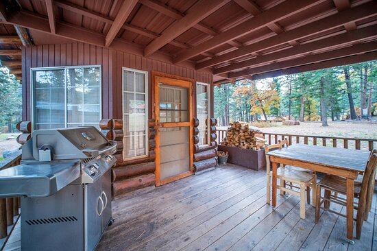Tipton cabin patio with gas grill