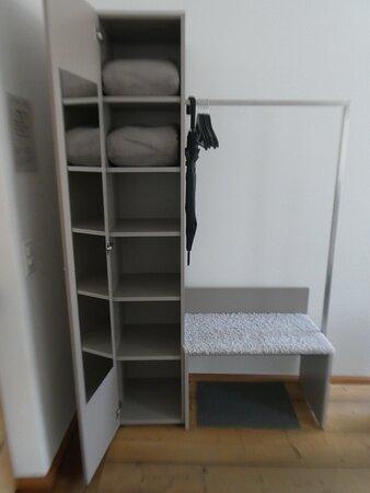 storage space in Junior Suite