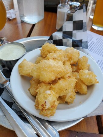 Excellent beer and cheese curds