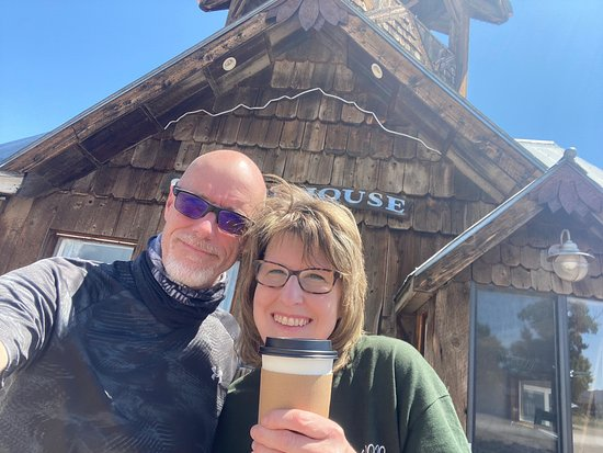 We stopped in on the way home to Creede from Colorado Springs.    I never knew there was a coffee shop inside.   My latte was very good and had a wonderful flavor.   I love stopping at new little coffee places.   I will definitely stop in again.