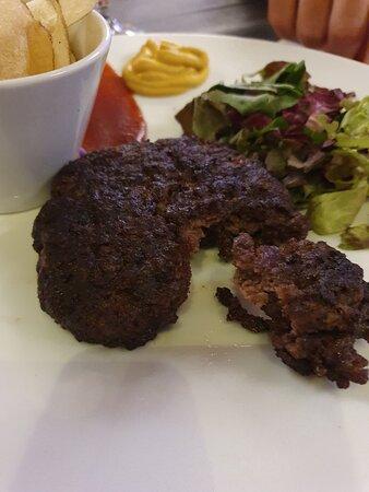 hamburger incenerito, vedi interno inferiore