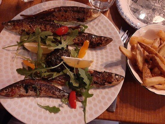 Les sardines de l'Aristide.... Un délice!!