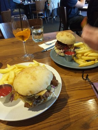 Burger lunch