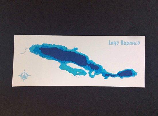 Entre Lagos, Chile: Mapa del Lago rupanco