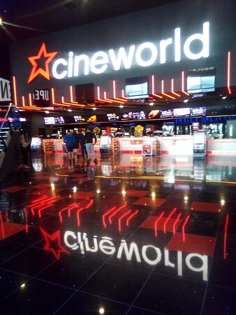 Inside the cinema, taken about 3pm.