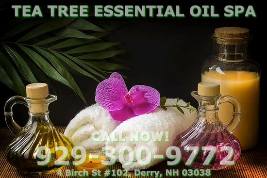 Tea Tree Essential Oil Spa, is an asian spa designed to help you relax, reduce stress, relieve build up chronic pain, and increase the overall quality of your life! We specialize in Essential oil Massage treatments to meet the needs of Stressed clients looking for relaxation here  in a peaceful setting! We are proud to be providing Authentic Asian Massage therapy services in our beloved community of Derry, New Hampshire!