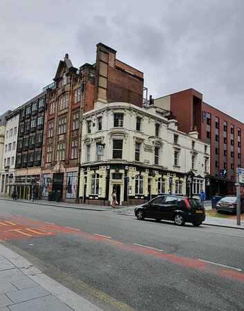 The Vernon Arms Pub along Dale Street.