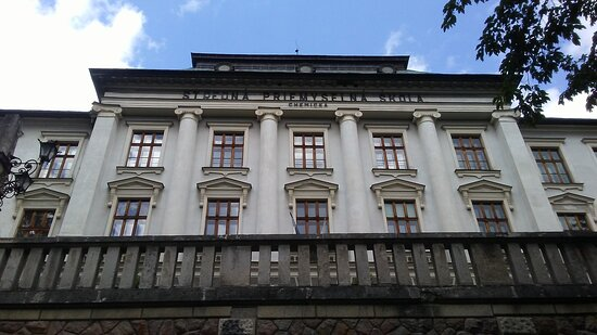 One of the buildings of the famous Mining Academy in Banska Stiavnica.